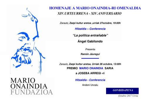 Homenaje a Mario Onaindia-ri omenaldia